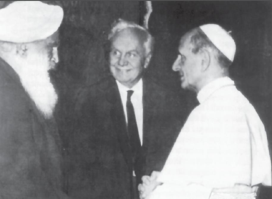 Sant Kirpal Singh in Italy with Pope Paul VI